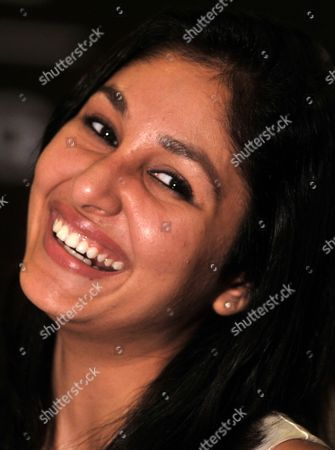 Winner of Femina Miss India 2009 Miss World Pooja Chopra Smiles During a Promotional Event in Southern Indian City of Bangalore on 17 June 2009 India Bangalore