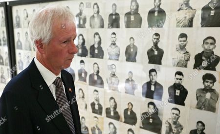 Canadian Foreign Minister Stephane Dion Views an Exhibition of Photographs of Khmer Rouge Victims on Display at the Tuol Sleng Genocide Museum (s-21 Prison) in Phnom Penh Cambodia 02 September 2016 Stephane Dion is on an Official Visit in Cambodia to Tighten Ties and Cooperation Between the Two Countries Cambodia Phnom Penh