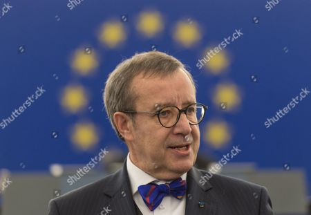 Toomas Hendrik Ilves President of Estonia Delivers His Speech in the European Parliament in Strasbourg France 02 February 2016 France Strasbourg