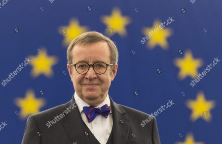 Toomas Hendrik Ilves President of Estonia Reacts Before His Speech in the European Parliament in Strasbourg France 02 February 2016 France Strasbourg