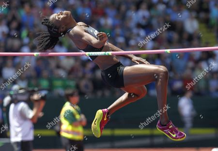 Chaunte Lowe of the United States Competes in the Women's High Jump at the Iaaf Diamond League Prefontaine Classic in Eugene Oregon Usa 28 May 2016 United States Eugene