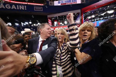 Colorado Delgate Steve House (l) Announces Colorado's Votes During the Roll Call of States For the Nomination of Donald Trump on the Second Day of the 2016 Republican National Convention at Quicken Loans Arena in Cleveland Ohio Usa 19 July 2016 the Four-day Convention is Expected to End with Donald Trump Formally Accepting the Nomination of the Republican Party As Their Presidential Candidate in the 2016 Election United States Cleveland