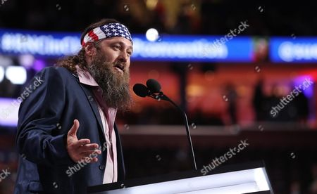 Us Television Personality Willie Robertson of 'Duck Dynasty' Speaks During the Second Session During the First Day of the 2016 Republican National Convention at Quicken Loans Arena in Cleveland Ohio Usa 18 July 2016 the Four-day Convention is Expected to End with Donald Trump Formally Accepting the Nomination of the Republican Party As Their Presidential Candidate in the 2016 Election United States Cleveland