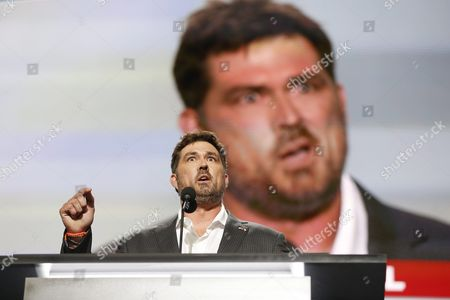 Stock Image of Former Navy Seal Marcus Luttrell Speaks During the Second Session on the First Day of the 2016 Republican National Convention at Quicken Loans Arena in Cleveland Ohio Usa 18 July 2016 the Four-day Convention is Expected to End with Donald Trump Formally Accepting the Nomination of the Republican Party As Their Presidential Candidate in the 2016 Election United States Cleveland