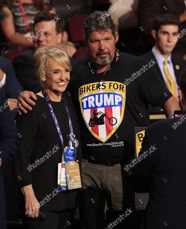 Former Arizona Governor Jan Brewer (l) Poses For a Photo with a Trump Supporter Before the Start of the Second Session During the First Day of the 2016 Republican National Convention at Quicken Loans Arena in Cleveland Ohio Usa 18 July 2016 the Four-day Convention is Expected to End with Donald Trump Formally Accepting the Nomination of the Republican Party As Their Presidential Candidate in the 2016 Election United States Cleveland