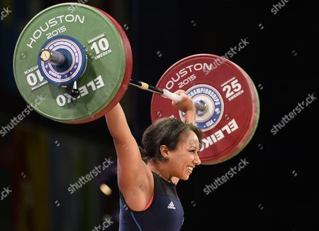 Zoe Smith of Britain Completes a Lift in the Snatch During the Womens 63kg 139lb Weight Class a at the George R Brown Convention Center in Houston Texas Usa 25 November 2015 the Weightlifting World Championships Are in the United States For the First Time in Over Forty Years United States Houston