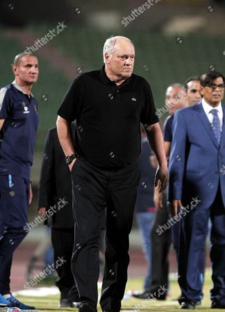 Al-ahly Coach Manager Martin Jol Direct His Players During Their Egyptian League Soccer Soccer Match Against Al-zamalek at Military Stadium in Suez Egypt 10 July 2016 Al-ahly Won the Egyptian League 2016 Egypt Suez
