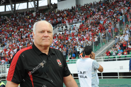 Al-ahly's Coach Martin Jol During Their Caf Champions League Group a Stage Football Match Between Egypt's Al-ahly and Morocco's Wydad Casablanca at Prince Moulay Abdellah Stadium in Rabat Morocco on 27 July 2016 Morocco Rabat