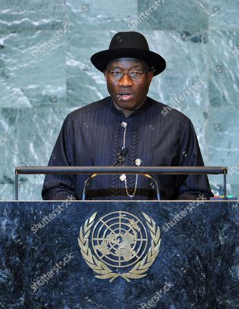 Goodluck Ebele Jonathan President and Commander-in-chief of the Armed Forces of the Federal Republic of Nigeria Speaks During the General Debate at the 66th Session of the United Nations General Assembly at United Nations Headquarters in New York New York Usa on 21 September 2011 Reports on 21 September 2011 State That Palestinian Authority President Mahmoud Abbas is to Present the Palestinian Request to Become the 194th Member of the Un on 23 September After He Addresses the General Assembly the Bid Has to Be Approved by the 15-member Security Council where It Will Almost Certainly Meet with a Veto by the Us United States United Nations