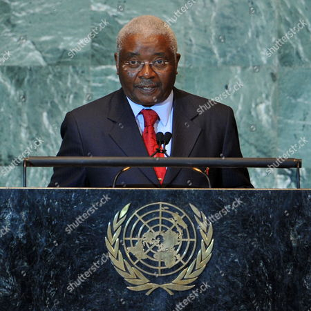 Armando Emilio Guebuza President of the Republic of Mozambique Speaks During the General Debate at the 66th Session of the United Nations General Assembly at United Nations Headquarters in New York New York Usa on 21 September 2011 United States United Nations