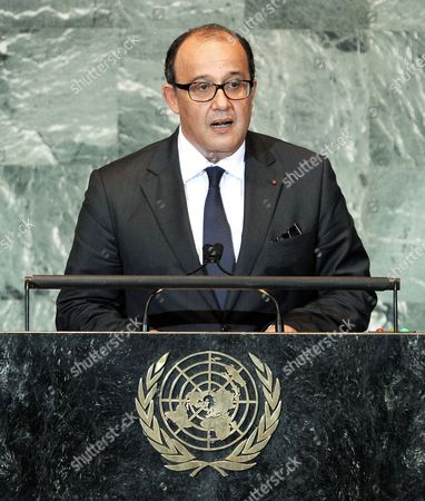Taib Fassi Fihri the Minister of Foreign Affairs For Morocco Speaks During the General Debate of the 66th Session of the United Nations General Assembly at United Nations Headquarters in New York New York Usa on 26 September 2011 United States New York
