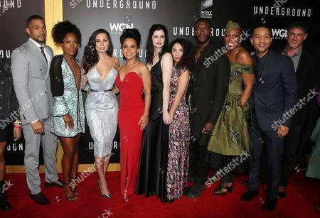 DeWanda Wise, Jurnee Smollett-Bell, Amirah Vann, Jessica De Gouw, Aldis Hodge, Aisha Hinds, Christopher Meloni, The cast of WGN America's 'Underground