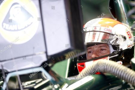Italian Formula One Driver Jarno Trulli of Team Lotus Sits in His Car During the Third Practice Session at the Buddh International Circuit on the Outskirts of New Delhi India 29 October 2011 India is to Host Its First Formula One Grand Prix on 30 October 2011 India New Delhi