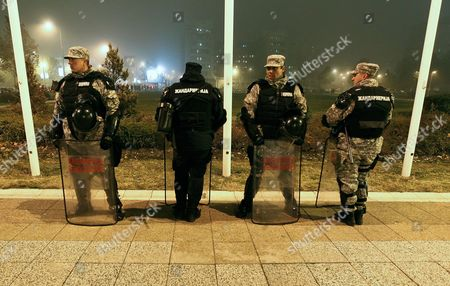 Editorial image of Serbia Music Dino Merlin Police - Nov 2011
