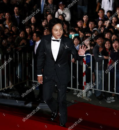 Stock Picture of South Korean Actor Cha Tae-hyun Arrives For the 48th Daejong Film Awards at the Sejong Center in Seoul South Korea 17 October 2011 Korea, Republic of Seoul