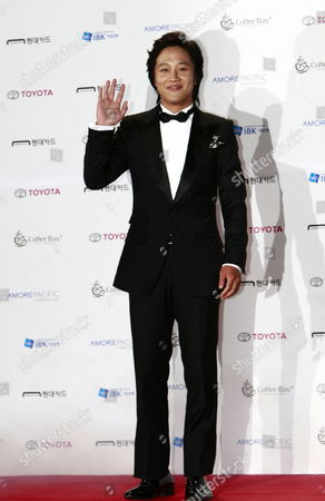 South Korean Actor Cha Tae-hyun Arrives For the 48th Daejong Film Awards at the Sejong Center in Seoul South Korea 17 October 2011 Korea, Republic of Seoul