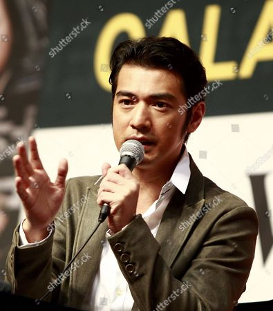 Chinese-japanese Actor Takeshi Kaneshiro Speaks During a Press Conference of His Film 'Wu Sia' by China-hong Kong Director Peter Chan at the 16th Busan International Film Festival (biff) Plaza in Busan South Korea 09 October 2011 the Biggest Film Festival in Asia Showcases 307 Films From 70 Countries From 06 to 14 October in Busan Korea, Republic of Busan