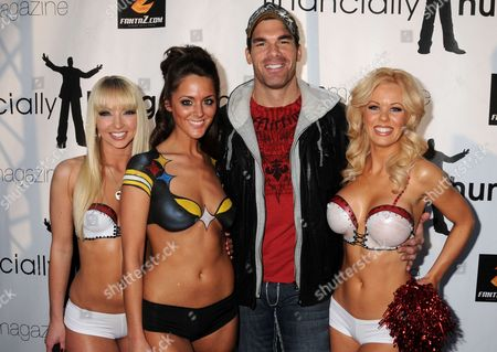 Brandon Molale with Playboy models