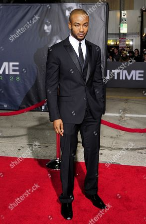 Stock Photo of Us Actor and Cast Member Collins Pennie Arrives For the Premiere of 'In Time' in Los Angeles California Usa 20 October 2011 'In Time' is a Futuristic Tale where Life Stops at 25 and the Only Way to Stay Alive is to Earn Steal Or Inherit More Time United States Los Angeles
