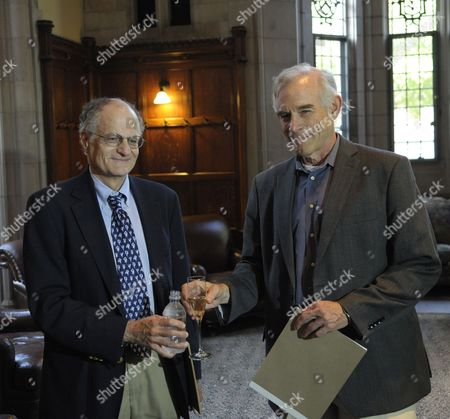 Economics Professor From Princeton University Christopher Sims (r) and Professor Thomas J Sargent of New York University Raise a Toast at a Reception After a Press Conference at Princeton University in Princeton New Jersey Usa 10 October 2011 Sims and Sargent Were Awarded the 2011 Sveriges Riksbank Prize in Economic Sciences in Memory of Alfred Nobel For Their Research Which Looked at the Cause-and-effect Relationship Between Economic Policy and the Broader Economy Epa/peter Foley United States Princeton