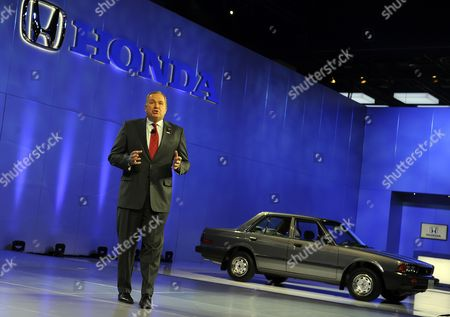 American Honda Motor Company Executive Vice President John Mendel Speaks As the First Us Produced Honda Accord Sits on Display at the North American International Auto Show at the Cobo Center in Detroit Michigan Usa 10 January 2012 the North American International Auto Show is One of the Largest Car Shows Held Annually in the United States and Opens to the Public 14 January 2012 United States Detroit