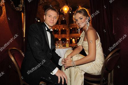 Miss World 2006 Tatana Kucharova and her boyfriend Milan Richter