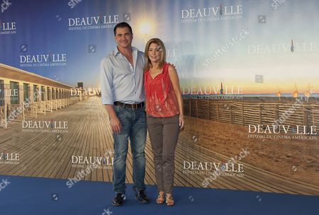 Stock Picture of Us Director Tate Taylor (l) and Us Screenwriter Kathryn Stockett Pose During the Photocall of Their Movie 'The Help' During the 37th Deauville American Film Festival in Deauville France 03 September 2011 the Movie is Presented in the Premieres Section of the Festival That Runs From 02 to 11 September France Deauville