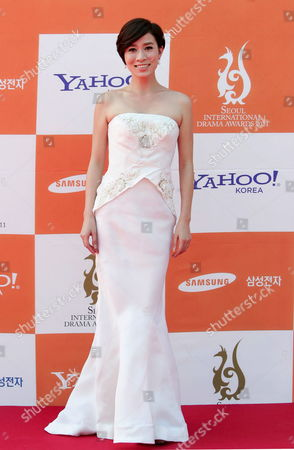 Stock Picture of Chinese Actress Charmaine Sheh Poses For Photographs As She Arrives at the 6th Annual Seoul International Drama Awards 2011 Held at the Youido Kbs Hall in Seoul South Korea 31 August 2011 Some 200 Drama Movies From 37 Countries Participate in the Competition Korea, Republic of Seoul