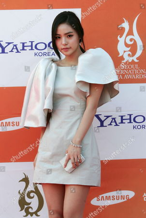 South Korean Singer and Actress Min Hyo-rin Poses For Photographs As She Arrives at the 6th Annual Seoul International Drama Awards 2011 Held at the Youido Kbs Hall in Seoul South Korea 31 August 2011 Some 200 Drama Movies From 37 Countries Participate in the Competition Korea, Republic of Seoul