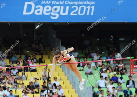 Stock Picture of Kate Dennison of Great Britain Competes in the Women's Pole Vault Qualification During the 13th Iaaf World Championships in Daegu Republic of Korea 28 August 2011 Korea, Republic of Daegu