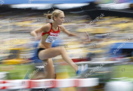 Stock Photo of Jana Sussmann From Germany Competes in the Womens 3000m Steeplechase Round 1 During the 13th Iaaf World Championships in Daegu Republic of Korea 27 August 2011 Korea, Republic of Daegu