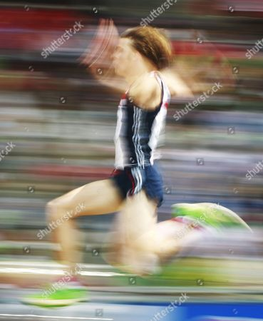Picture Taken with Slow Shutter Speed Shows Christopher Tomlinson of Great Britain Competing in the Men's Long Jump Qualification During the 13th Iaaf World Championships in Daegu Republic of Korea 01 September 2011 Korea, Republic of Daegu