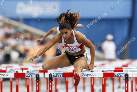 Nevin Yanit of Turkey Competes in the Women's 100m Hurdles Heat During the 13th Iaaf World Championships in Daegu Republic of Korea 02 September 2011 Korea, Republic of Daegu