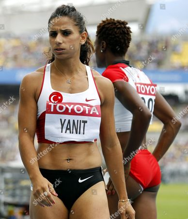 Nevin Yanit of Turkey Pictured After Competing in the Women's 100m Hurdles Heat During the 13th Iaaf World Championships in Daegu Republic of Korea 02 September 2011 Korea, Republic of Daegu