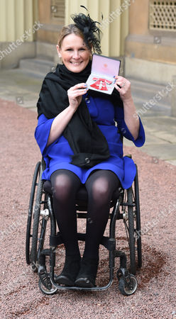 Stock Image of Claire Lomas during an Investiture Ceremony at Buckingham Palace in London