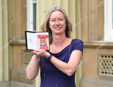 Justine Roberts of Mumsnet during an Investiture Ceremony at Buckingham Palace in London