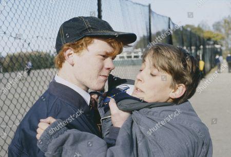 Toby Cockerell (as Scott Windsor) and Richard Redpath (as Glen) as Scott is bullied at school by Glen (Ep 1822 - 2nd December 1993)