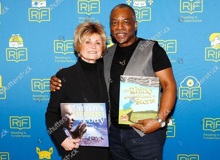 LeVar Burton, Kitty Kelley Author Kitty Kelley, left, and author, actor and recipient of the 2017 RIF Literacy Champion Award LeVar Burton, right, kick off National Reading Month at Tyler Elementary School, in Washington, D.C. Learn more at http://bit.ly/RIFLeVarPR