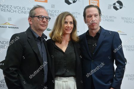 Stock Picture of Etienne Comar, Cecile de France and Reda Kateb
