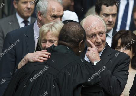 Former Labour Party Leader Lord Neil Kinnock (r) and His Wife Glenys Kinnock (l) Leave St Margaret's Church After a Service to Mark the Life of Labour Mp Jo Cox in Westminster Central London Britain 20 June 2016 Cox was Murdered in Birstall West Yorkshire 16 June 2016 Whilst Meeting Members of the Public in Her Constituency United Kingdom London
