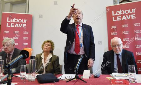 Labour Donor and Co Founder of 'Labour Leave' John Mills (2-r) Addresses the Press During a Labour Leave Eu Press Conference with Labour Member of Parliament Graham Stringer (l) Labour Member of Parliament Kate Hoey (2-l) and Labour Member of Parliament Kelvin Hopkins (r) in Central London Britain 19 January 2016 British Prime Minister David Cameron is Hoping to Hold a Referendum on Wether the Uk Should Leave the Eu Or Stay by the Summer of 2016 United Kingdom London