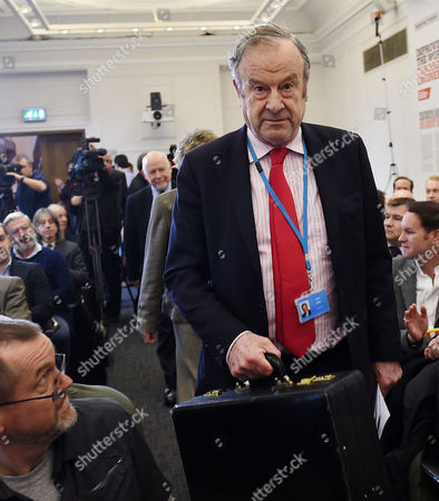Labour Donor and Co Founder of 'Labour Leave' John Mills Arrives For a Labour Leave Eu Press Conference in Central London Britain 19 January 2016 British Prime Minister David Cameron is Hoping to Hold a Referendum on Wether the Uk Should Leave the Eu Or Stay by the Summer of 2016 United Kingdom London