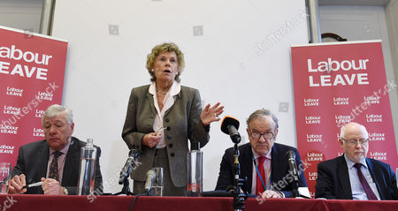 Labour Member of Parliament Kate Hoey of 'Labour Leave' Addresses the Press During a Labour Leave Eu Press Conference with Labour Member of Parliament Graham Stringer (l) John Mills (2-r) and Labour Member of Parliament Kelvin Hopkins (r) in Central London Britain 19 January 2016 British Prime Minister David Cameron is Hoping to Hold a Referendum on Wether the Uk Should Leave the Eu Or Stay by the Summer of 2016 United Kingdom London