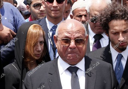 Stock Photo of Dema Faham (l) the Widow of Chemistry Nobel Prize Laureate of 1999 Egyptian - Us Professor Ahmed Zewail During His Funeral at Zewail City in Giza 07 August 2016 Ahmed Zewail Died in the Us Aged 70 He Won the Nobel Chemistry Prize in 1999 For His Study of Chemical Reaction in Extremely Short Timescales Also Known As Femtochemistry to Be the First Arab Scientist to Win the Nobel Prize He Will Be Buried in Egypt on 07 August 2016 Egypt Giza
