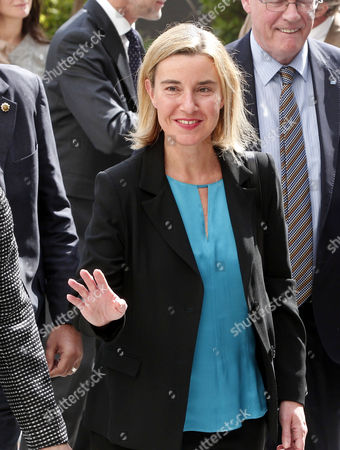 The Eu Representative For Foreign Affairs Federica Mogherini Arrives For Her Meeting with the Secretary General of the Arab League Nabil Al-arabi (not Pictured) at the Arab League Headquarters Cairo Egypt 03 November 2015 Mogherini is on a Two Date Visit to the Country to Meet Politicans and Comes After 68 Million Euros was Earmarked by the Eu For the Egypt Gas Connection Project Aimed at Boosting the North African Country's Energy Sector Egypt Cairo