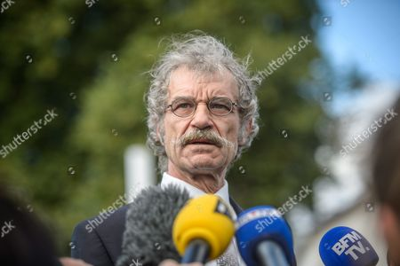 St Etienne Mayor Hubert Wulfranc Speaks to the Press Before a Catholic Mass Celebrated For the Re-opening of the Saint Etienne Church in Saint-etienne-du-rouvray Near Rouen France on 02 October 2016 2 Months After the Hostage Taking in the Church of Saint Etienne Du Rouvray where Priest Jacques Hamel was Killed by an Is-linked Attack the Saint Etienne Church is Officially Back to Worship France Saint Etienne Du Rouvray