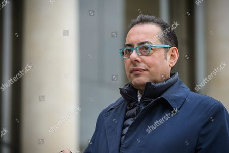 Gianni Pitella Head of the Group of the Progressive Alliance of Socialists and Democrats in the European Parliament Leaves the Elysee Palace After a Meeting with President Francois Hollande in Paris 21 October 2015 France Paris