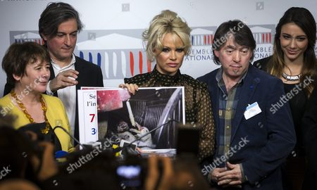 Editorial picture of France Pamela Anderson Foie Gras Conference - Jan 2016