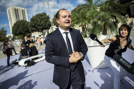 Mayor of Frejus David Rachline Arrives For the Summer Conference of France's Far-right Political Party National Front (fn) in Marseille France 06 September 2015 France Marseille