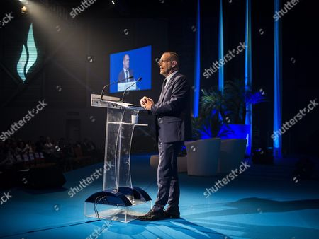 Mayor of Henin-beaumont and Mep Steeve Briois Delivers a Speech During the Summer Conference of France's Far-right Political Party National Front (fn) in Marseille France 06 September 2015 France Marseille